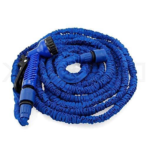 GPWDSN Uitbreidbare Tuinslang Pijp 3 keer Pistool Flexibele Magic Waterslang Messing Fittings Anti-lekkage voor Tuin Thuis Outdoor Eenvoudige Opslag Blauw (Maat: 7,5 m)