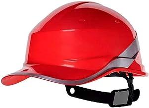 Capacete Segurança Proteção EPI Baseball Diamond Delta Plus Profissional Engenharia CA APROVADO e INMETRO Cor:VERMELHO