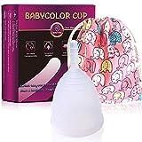 Coupe Menstruelle en Silicone – Transparente Réutilisable Flexible Menstrual Cup – Bio Coupe Menstruel Taille L