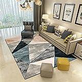 alfombra habitacion juvenil Gris Alfombra de sala de estar gris triángulo borroso retro alfombra múltiple antideslizante decoración de habitación 80X120CM alfombras de gateo 2ft 7.5''X3ft 11.2''