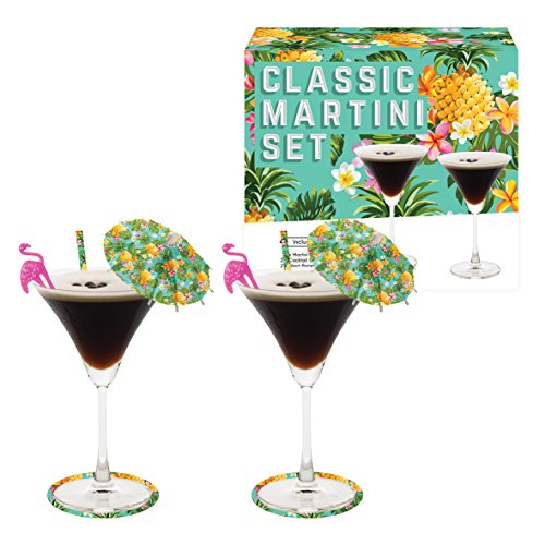 Vintage Kitchen Company 62330 Martini Cocktail Glasses Gift Set, 10 x 10 x 12.5 cm