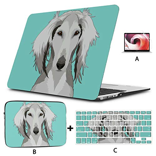 MacBook Air Case Buddy Dog Cute Animal Selfie Accessories for MacBook Pro Hard Shell Mac Air 11'/13' Pro 13'/15'/16' with Notebook Sleeve Bag for MacBook 2008-2020 Version