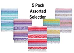 TRADITIONAL HAND-MADE QUALITY: Carefully crafted by Mexican artisans located in Tlaxcala, Mexico, each tassel is individually hand-tied to produce a high-quality authentic Mexican Yoga Blanket. These blankets are soft, thick, and available in a wide ...