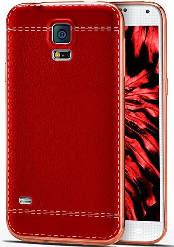 ONEFLOW - Cover in silicone TPU per Samsung Galaxy S5 / S5 Neo, ultra sottile, colore: Rosso vinaccia