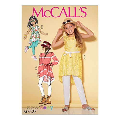 Mccall's Patronen 7527 CHJ, Kinderen/Meisjes Tunieken en Leggings, Maten 7-14, Tissue, Multi/Kleur, 17 x 0.5 x 0.07 cm