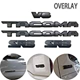 Blackout Emblems Overlay KIT Compatible with 2016-2021 Tacoma PT948-35180-02 OEM ABS Plastic(Black 5 Pcs)