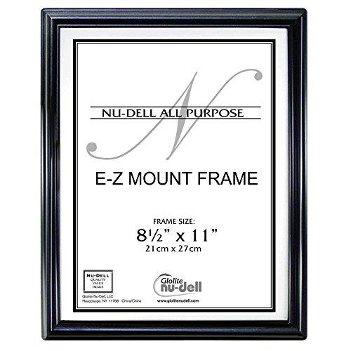 21,6x 27,9cm EZ Monte Documento Marco de plástico Face, Mediano, Negro, 1 uds. por Paquete
