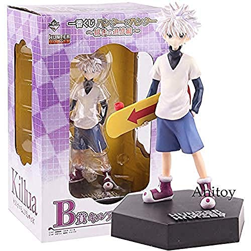 WXxiaowu Anime Hunter X Hunter Gon Freecss/Killua Zoldyck PVC Action Figure Collectible Model Toy Gon Freecss with Box-Killua_a
