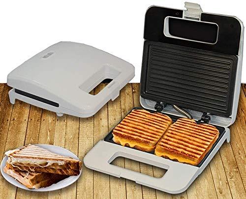 J&X Máquina de sándwich eléctrico Fabricante de Waffle Belga Iron Panini Prensa para la Cena de Desayuno Tostado Tostado Tostador Tostadora o bocadillos