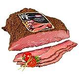 Die Premium Alternative zu Schinken und Salami: Original American Rinderbrust Pastrami Brisket im würzigen New York Style - saftiger Sandwichbelag oder Aufschnitt – 1 Kg mit...