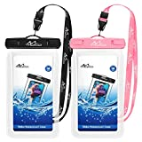 MoKo Floating Waterproof Phone Pouch [2 Pack], Floatable Phone Case Dry Bag