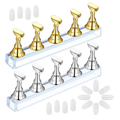 AirSmall 2 Sets Acrylic Nail Display Stand