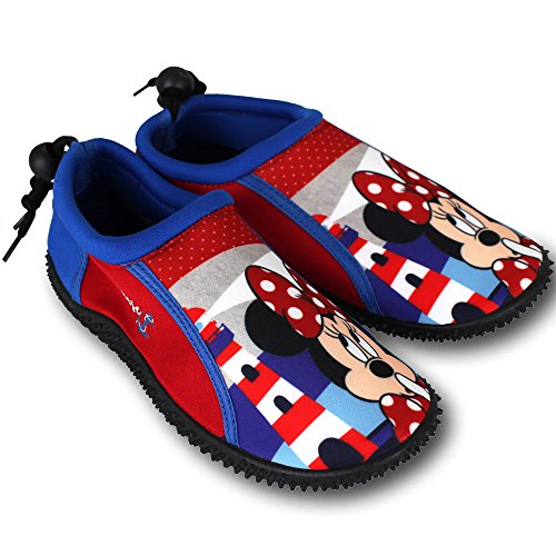 Wasserschuhe Kinder Disney Motiv- und Größenauswahl - Kinder Aquaschuhe - Badeschuhe - Strandschuhe - Surfschuhe (32, Minnie Mouse)