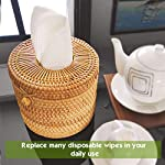 No more disposable wipes with Miw Piw Reusable Unpaper Towels Set 20 & 1 Natural Loofah Sponges, Highly Absorbent Washable Paperless Recycled Organic Cotton Napkins Bamboo Bathroom Roll Cleaning Cloths Eco Friendly Zero Waste