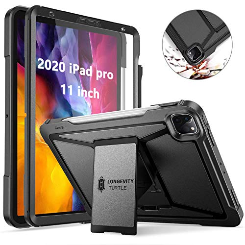Ztotop for New iPad Pro 11 Case 2020 with Screen Protector, Dual Layer Shockproof Full Protective Cover with Kickstand and Pencil Holder for 2020 iPad