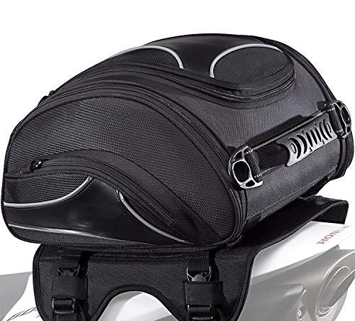 Motorrad Hecktasche Kompatibel für Bagtecs X20 Vario 14-20 l Soziussitz/Gepäckträger Verstellbar 4 Spanngurte