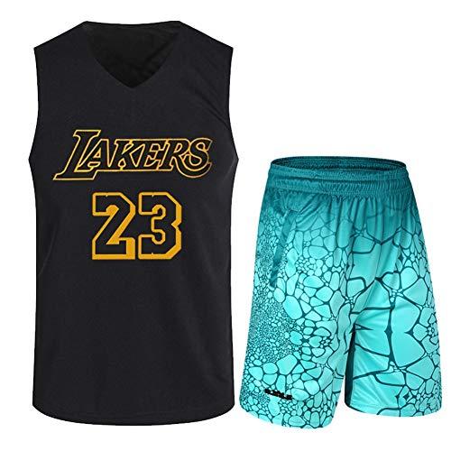 Haoshangzh55 Jerseys De Baloncesto/L.A. Lakers # 23 Lebron James Traje De Entrenamiento Deportes Y Ocio Fitness Transpirable Chaleco Sin Mangas,Verde,L