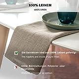 6-er Pack Leinen Stoffservietten – Servietten – Leinenservietten – 45×45 cm – Bauerleinen – Farbe Natur Braun - 8