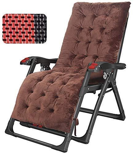 WXQ Sun Lounger Freizeitstuhl mit Kissen Liegender extra breiter Liegestuhl Verstellbarer Patio Lounge Stuhl Klappgarten Gartenhaus Home Tragbare Sonnenliege (Farbe mit Kissen), mit Kissen
