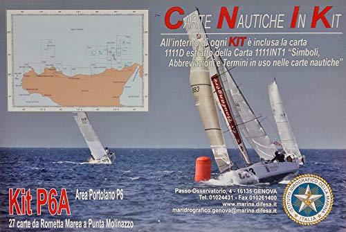 Istituto Idrografico della Marina Carte NAUTICHE Mar TIRRENO E Sicilia Settentrionale. Kit P6A. 27 Carte ROMETTA Marea A Punta MOLINAZZO
