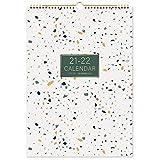 Eono by Amazon - Calendario 2021-2022, gennaio 2021-giugno 2022 Calendario da parete, agenda da parete con visualizzazione mensile, calendario mensile 18, 42,2 x 29,7 cm, agenda famiglia domestica