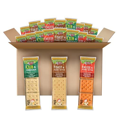 Keebler Sandwich Crackers, 3 Flavor Variety Pack, Kids School Lunch (45 Count)