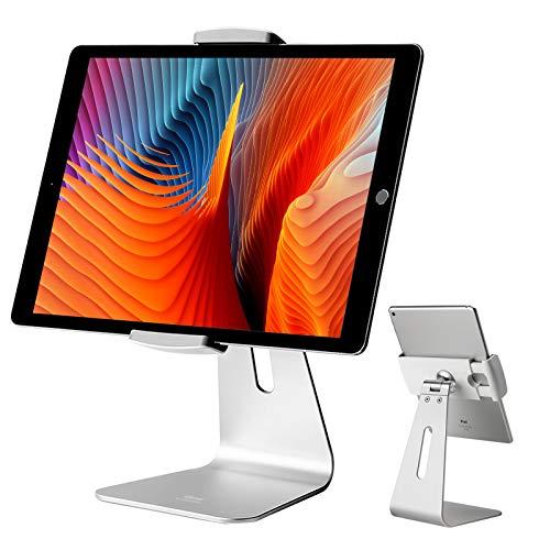 Viozon iPad Proスタンド タブレットスタンド7〜13インチiPad Pro iPad Air iPad Mini Surface Surface Pro用 360度回転 アルミニウム合金 デスクトップ マウント スタンド(シルバー)