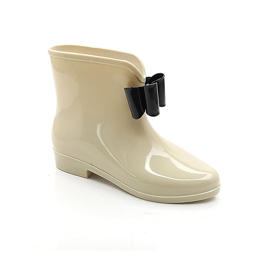 思いやり高潔な魅力Spinas(スピナス) レディース ショート レインシューズ ブーツ 雨の日も気分を盛り上げる メタリック リボンが可愛い 雨靴 長靴 選べる5カラー 23.0~24.5cm