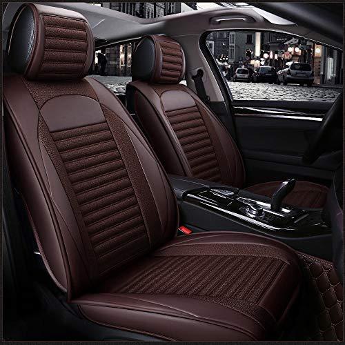 Fundas de asiento de coche de cuero con lino universal para Subaru Forester Brz Outback Tribeca Heri