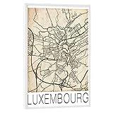 artboxONE Poster mit weißem Rahmen 90x60 cm Städte