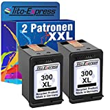 Tito-Express PlatinumSerie 2 Patronen für HP 300 XL Black E-All-IN-ONE Envy 100 110 111 114 120 121 Photosmart D110