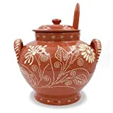 Traditional Portuguese Hand-painted Vintage Clay Terracotta Soup Tureen