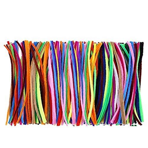 Ffpazig 200Pcs Assorted Color Twist Plush Toy Wand cores Chenille Stem Pipe Cleaners Flexible Kid Flocking Sticks for Early Education of Children Handmade DIY Art