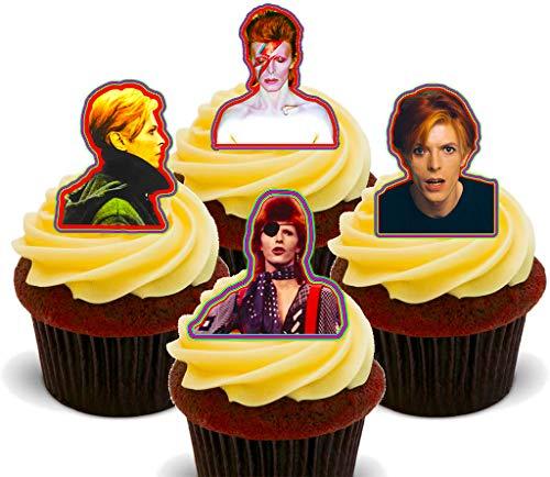 Made4You David Bowie - Decoración Comestible para Cupcakes