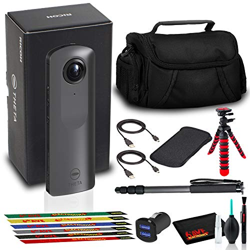 Ricoh Theta V 360 4K Spherical VR Camera with Bag, Tripod, Monopod, and More