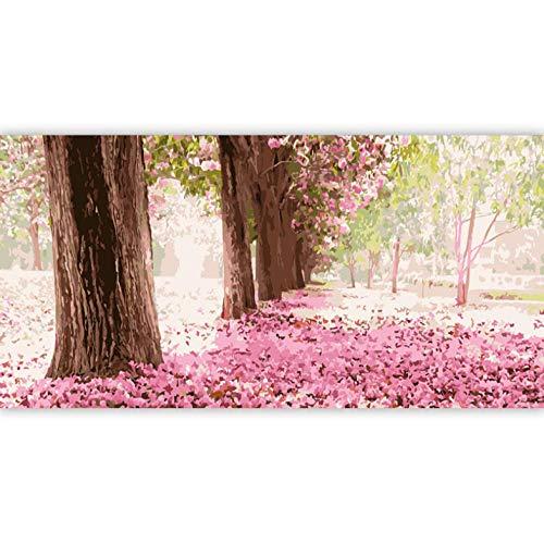Empty Pink Forest DIY Malen nach Zahlen Großformat Bild Leinwand Malen Acryl Malen nach Zahlen Art-60x75cm_no_Frame