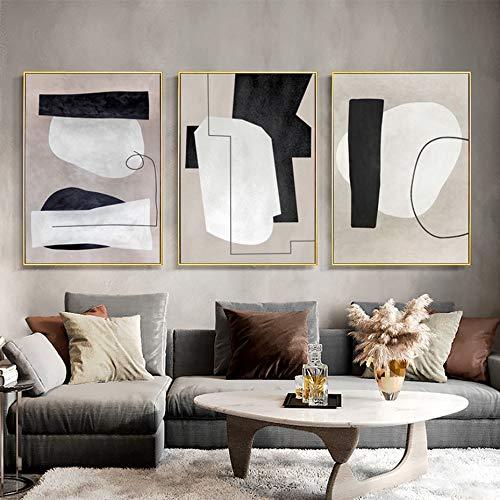 Wfmhra Pinceles Abstractos Retro de Moda en la Pared, Pinturas de Patrones en la Pared, decoración del hogar, Dormitorio, imágenes de la Sala de Estar 50x70cm sin Marco