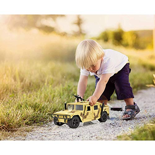 US Army Friction Powered Military Truck for Boys, Patrol Tank Toy Car with Door and Trunk Action for Kids Girls and Toddlers
