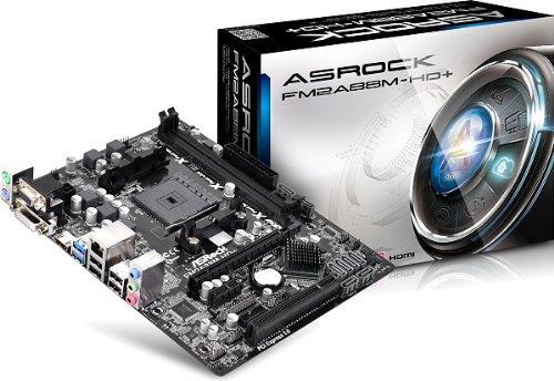 Asrock FM2A88M-HD+ Mainboard Sockel FM2+ (mciro-ATX, AMD A88X, 8X SATA III, 2X DDR3-Speicher, DVI-D, HDMI, 2X USB 3.0)
