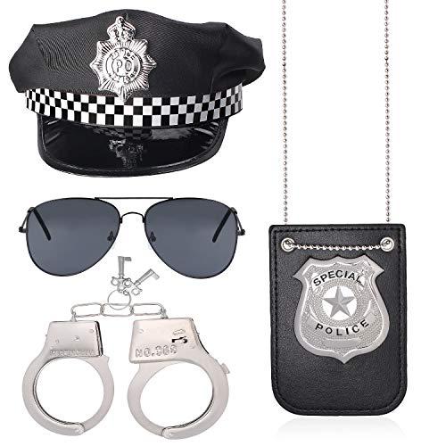 Haichen Juego de Accesorios para Disfraz de policía