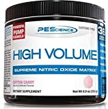 PEScience High Volume Caffeine Free Pump Pre Workout, Cotton Candy, 252 Gram …