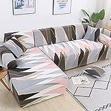 MKQB Funda de sofá elástica en Forma de L para Sala de Estar, Funda de sofá elástica para Muebles modulares, Funda de sofá Antideslizante n. ° 3 1seat-S- (90-140cm
