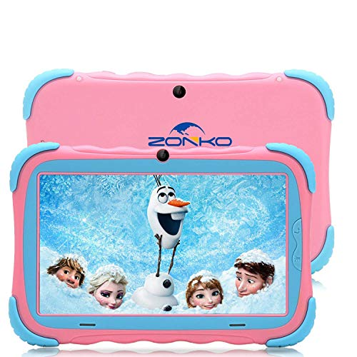 RCTOYS Tablet para Niños 7 Pulgadas Android 7.0 Tableta Infantil y Quad Core 2GB RAM y 32GB ROM de Wi-Fi y Bluetooth IPS HD 1024 * 600 Dual Camera Entertainment Education Tablet para niños