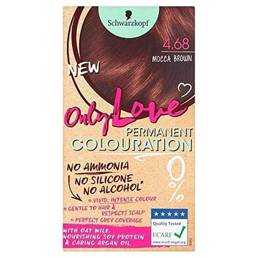 あごひげ接続詞[Only Love ] 唯一の永久染毛剤468 Moccaブラウンを愛し - Only Love Permanent Hair Dye 468 Mocca Brown [並行輸入品]
