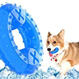 NWK Pet Teether Cooling Chew Toy for Dogs Teething Toy for Puppies, Fit with Treats for More Fun (Chewing Ring)