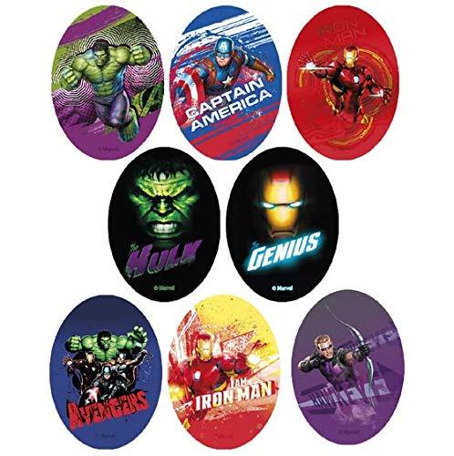 8 parches de los Vengadores con serigrafía REF.6783-U8