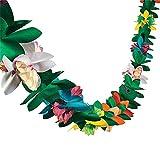 DUOPHY 9 Pieds de Long Papier Multicolore Tropical Guirlande de Fleurs de Guirlande de Fleurs pour Les Fournitures de fête hawaïenne Luau (1-Pack)