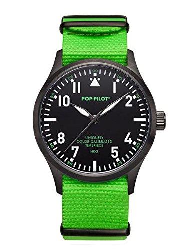 Pop-Pilot Unisex-Armbanduhr HKG Analog Quarz Nylon P4260362631052