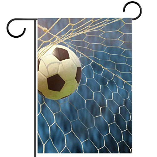 YATELI Garden Yard Flag 12x18 inch Football Kicked Online Double-Sided Banner for House Home Outdoor Party Decor