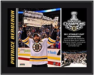 Boston Bruins Patrice Bergeron 2011 Stanley Cup Champions Plaque - NHL Player Plaques and Collages